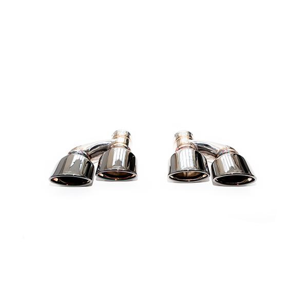iPE Mercedes-Benz C63 AMG W204 chrome black tips