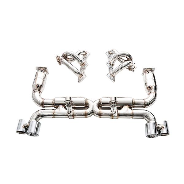ipe porsche 997 turbo s полная выхлопная система с клапанами