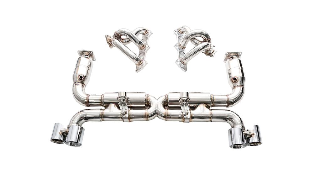 ipe porsche 997 turbo s full exhaust system
