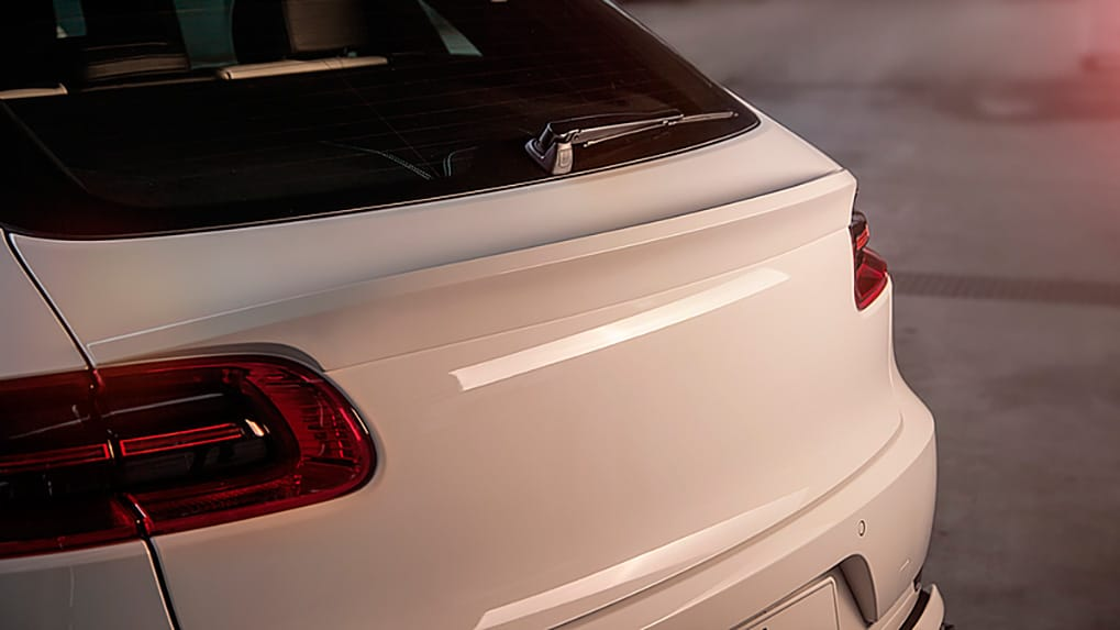 Porsche Macan Techart widebody trunk lip spoiler