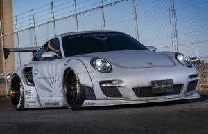 Porsche Turbo 997 LB Works wide fenders body kit