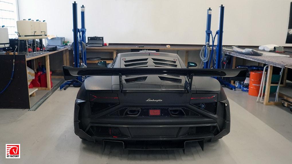 Lamborghini Gallardo Extenso GT3 interior rear wide section