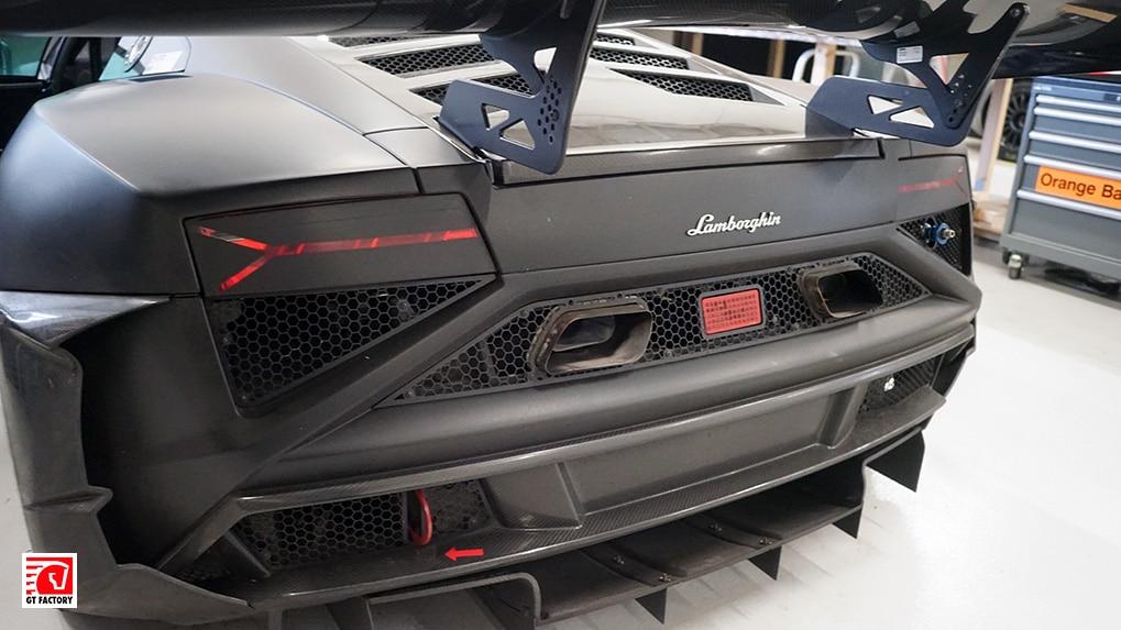 Lamborghini Gallardo Extenso GT3 interior exhaust