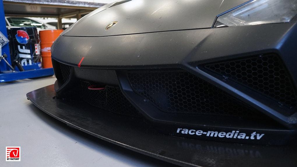 Lamborghini Gallardo Extenso GT3 front bumper with diffusor