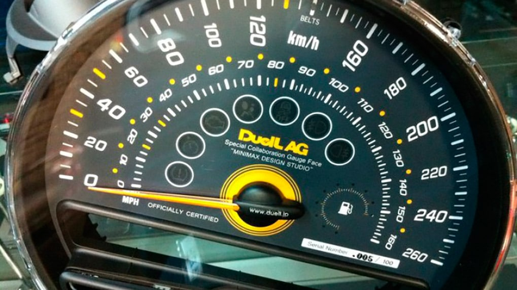 duell ag mini R60 countryman speedometer face