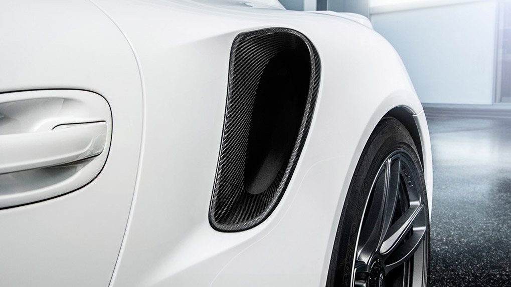 Porsche 991 Turbo Techart Aerokit I карбоновые воздухозаборники
