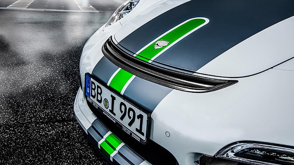 Porsche 991 Turbo Techart Aerokit I решетка капота