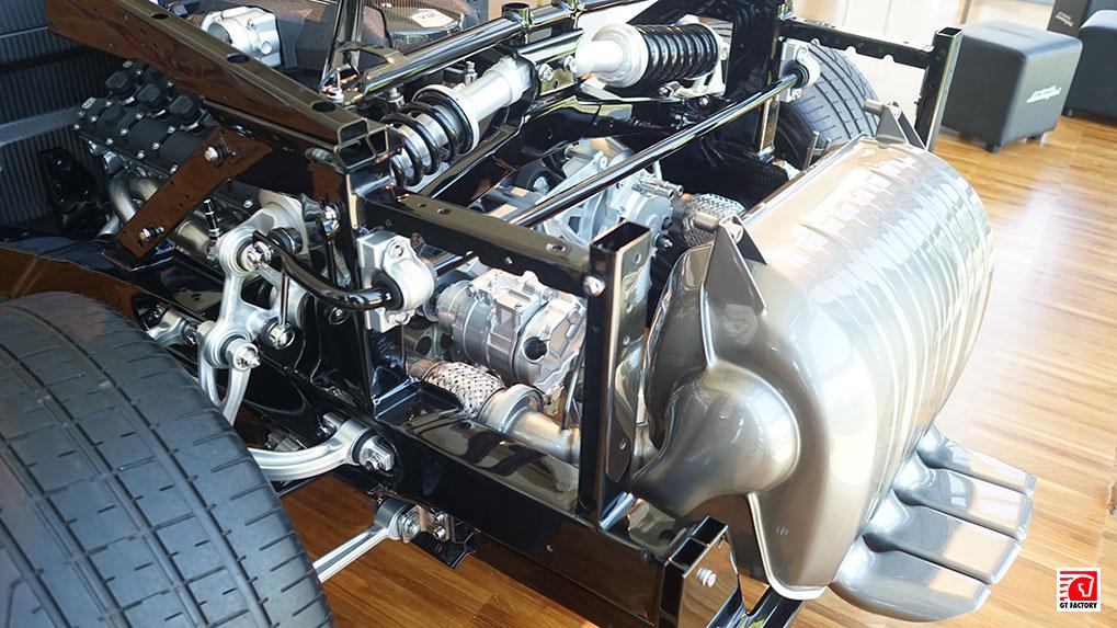 Музей Lamborghini Aventador frame engine suspension