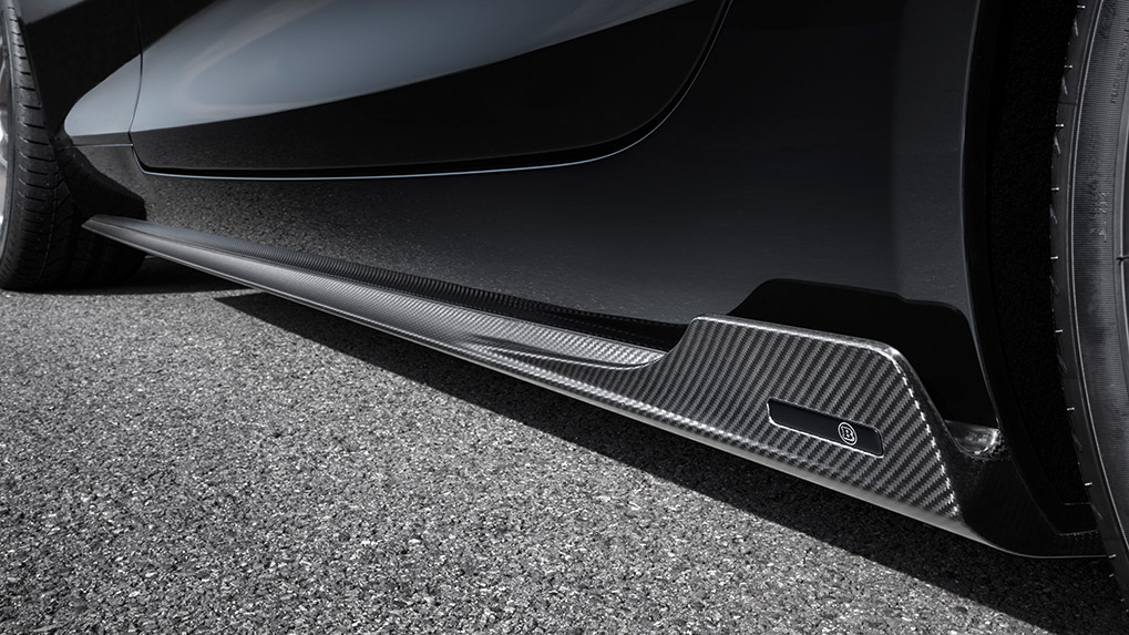 Brabus Mercedes-Benz AMG GT-S side diffusers with LED illumination
