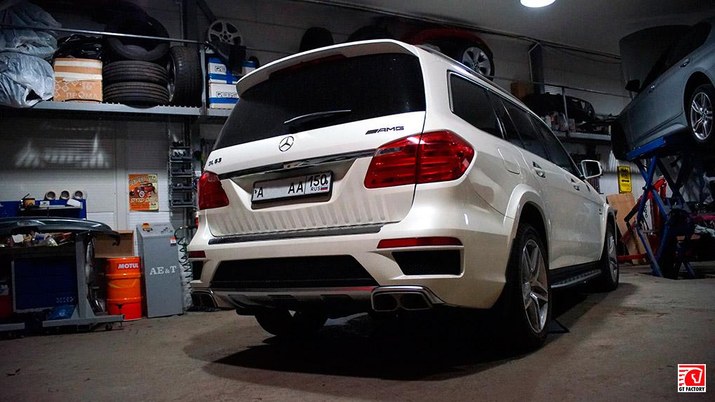 Mercedes-Benz gl63 amg Brabus выхлопная система установлена