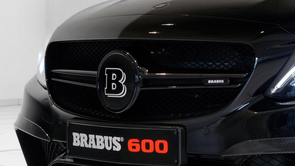 mercedes-benz c63s amg brabus b600 логотип решетки радиатора