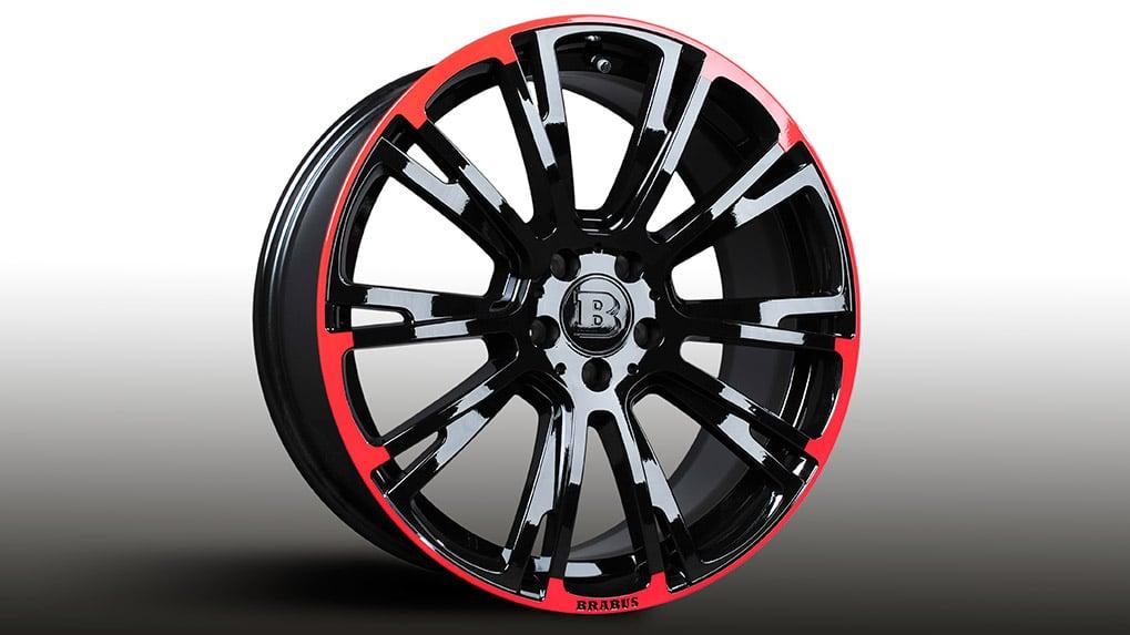 brabus monoblock r red/black