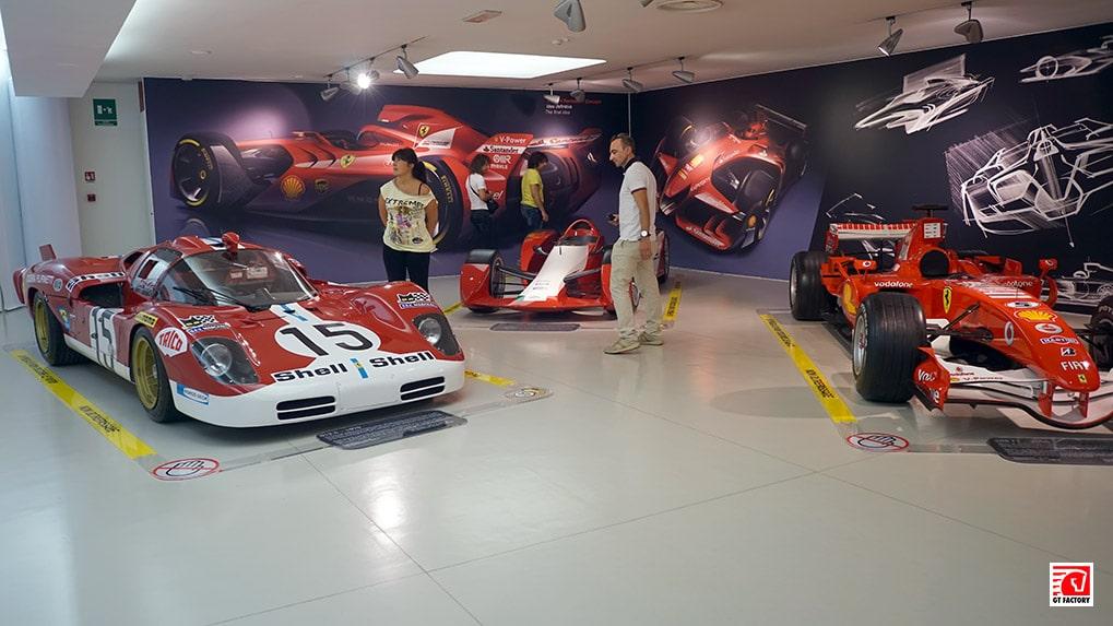 концепты гоночных болидов Музее ferrari в Маранелло