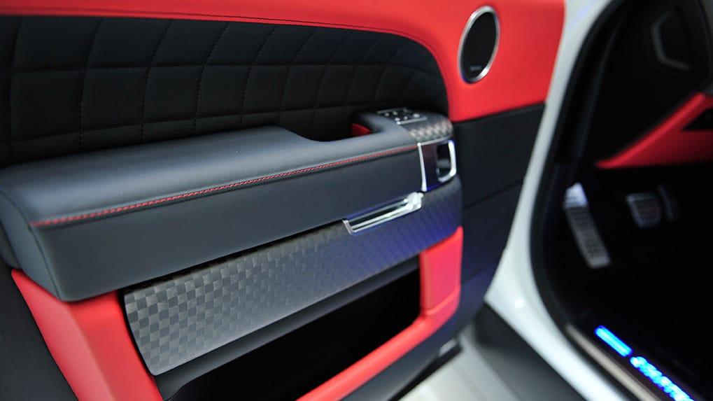 Range Rover интерьер карбон