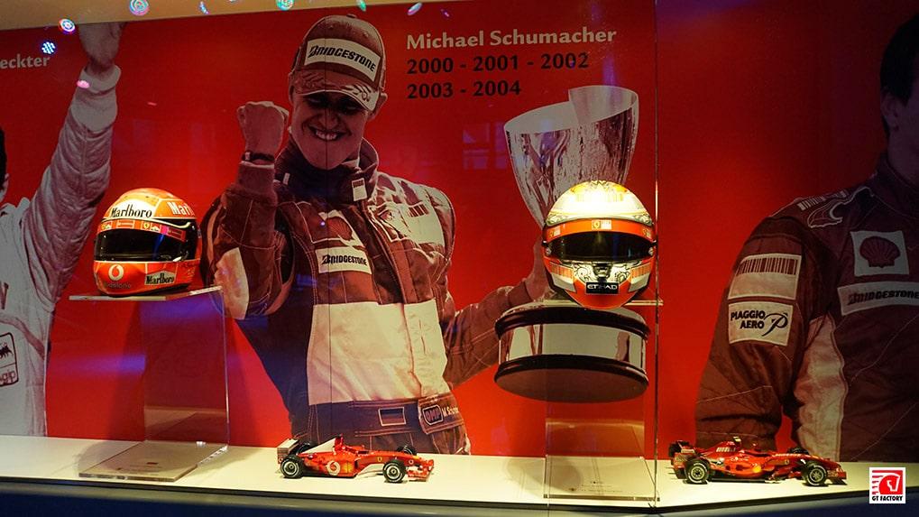 музей ferrari зал славы f1 Шумахер