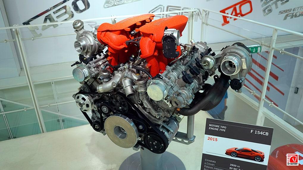 F154 CB двигатель Ferrari 488