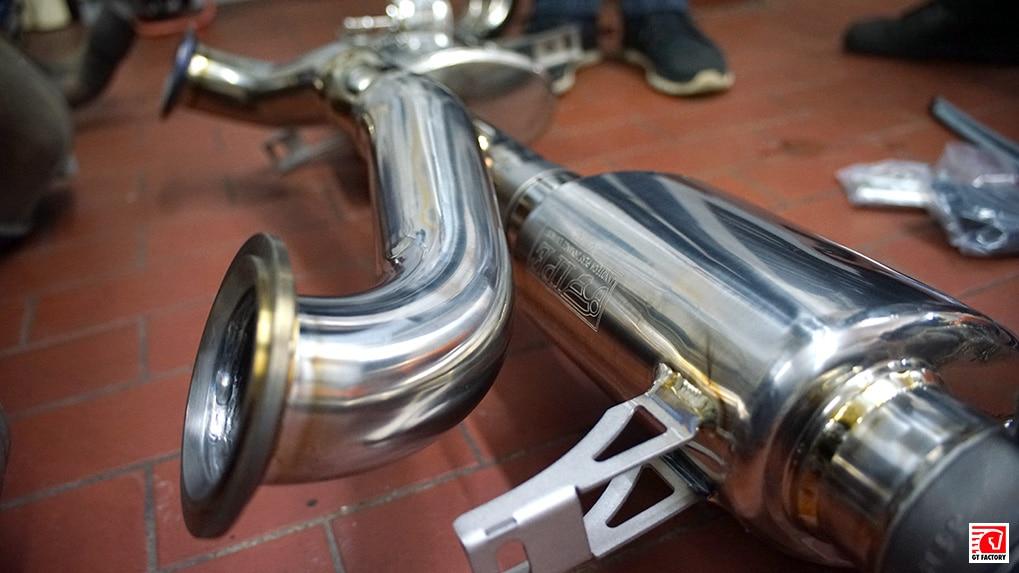 ipe titanium exhaust system for lamborghini lp610-4 huracan