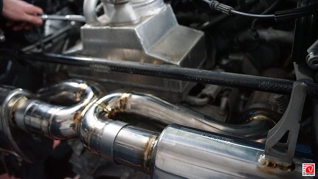 ipe titanium exhaust system for lamborghini lp610-4 installation process