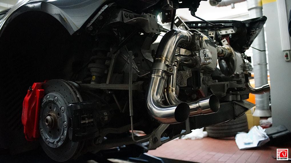ipe titanium exhaust system for lamborghini lp610-4 installation process