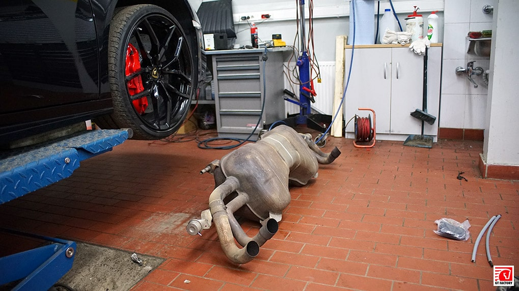 stock lp610-4 lamborghini exhaust system