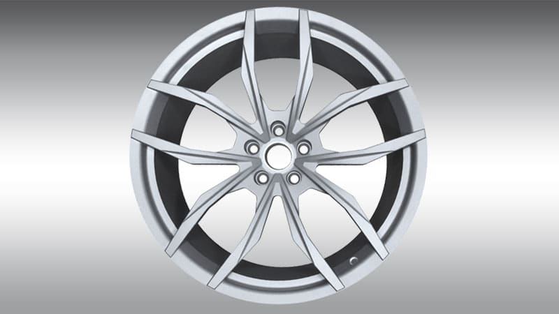 Novitec Lamborghini lp610-4 huracan nl2 forged wheels silver