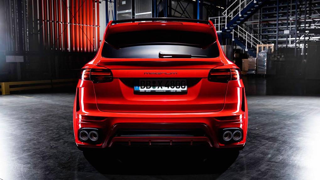 Porsche Cayenne 958.2 Techart Magnum задний бампер