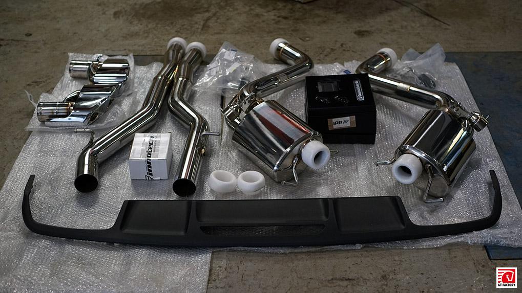 Mercedes-Benz cls63 ipe exhaust system