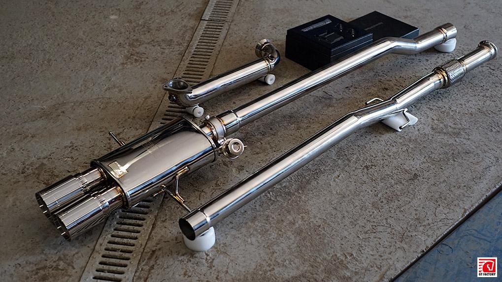 ipe mini cooper s r56 full exhaust system unpacked