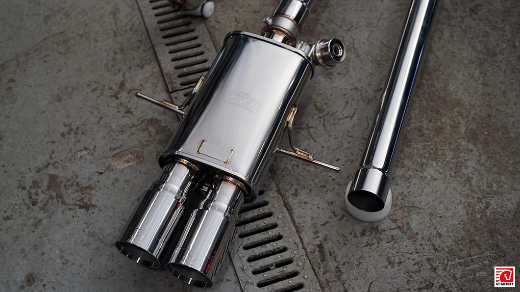 ipe mini cooper s r56 muffler with crome end tips