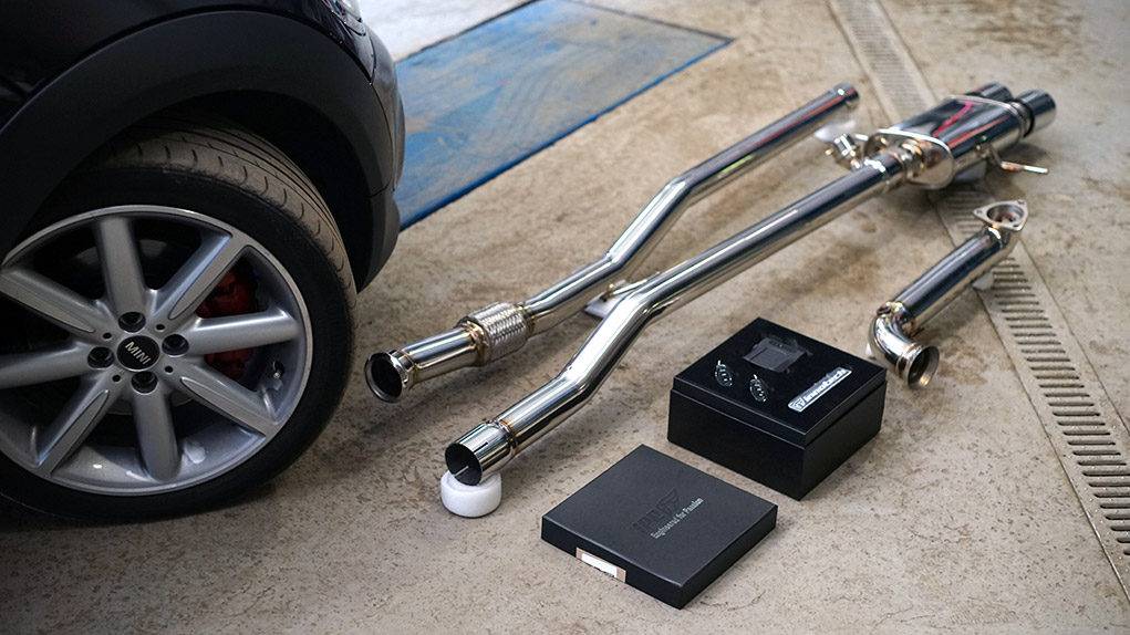 full ipe mini cooper s r56 exhaust system