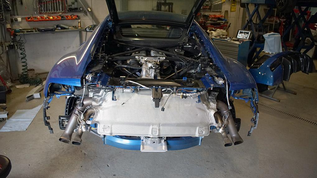 Capristo Audi R8 V10 Plus with stock exhaust