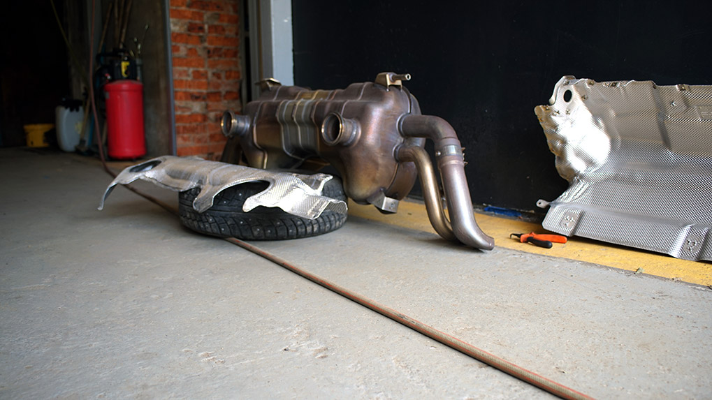 Capristo Audi R8 V10 Plus stock exhaust without insulation