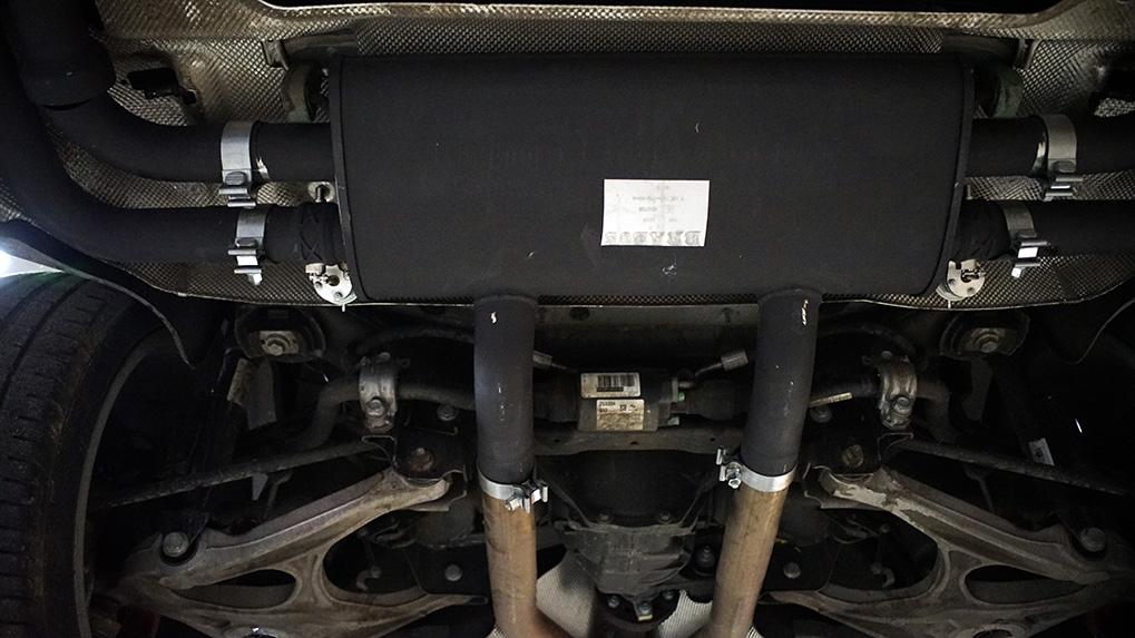 Mercedes-Benz ML63 W166 Brabus глушитель на месте