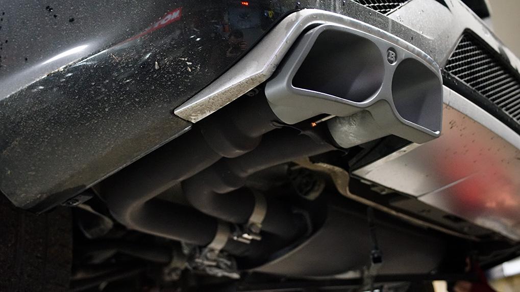 Mercedes-Benz ML63 W166 Brabus глушитель и насадка