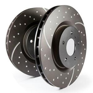 ebc gd тормозные диски с перфорацией и проточкой