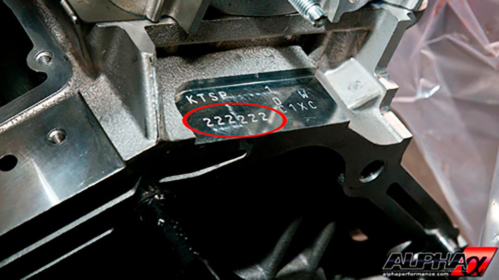 Alpha Nissan R35 GT-R кованые поршни маркировка размеров всоответствии с блоком цилиндров