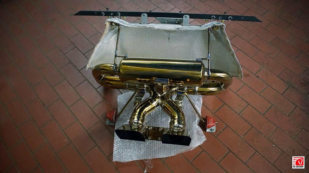 ipe lamborghini aventador lp700-4 глушитель из титана установка