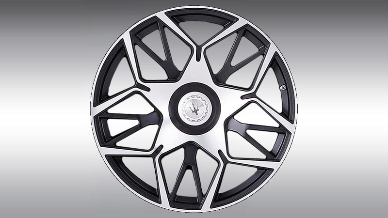Novitec Maserati Levante Esteso Wheels Black Polished
