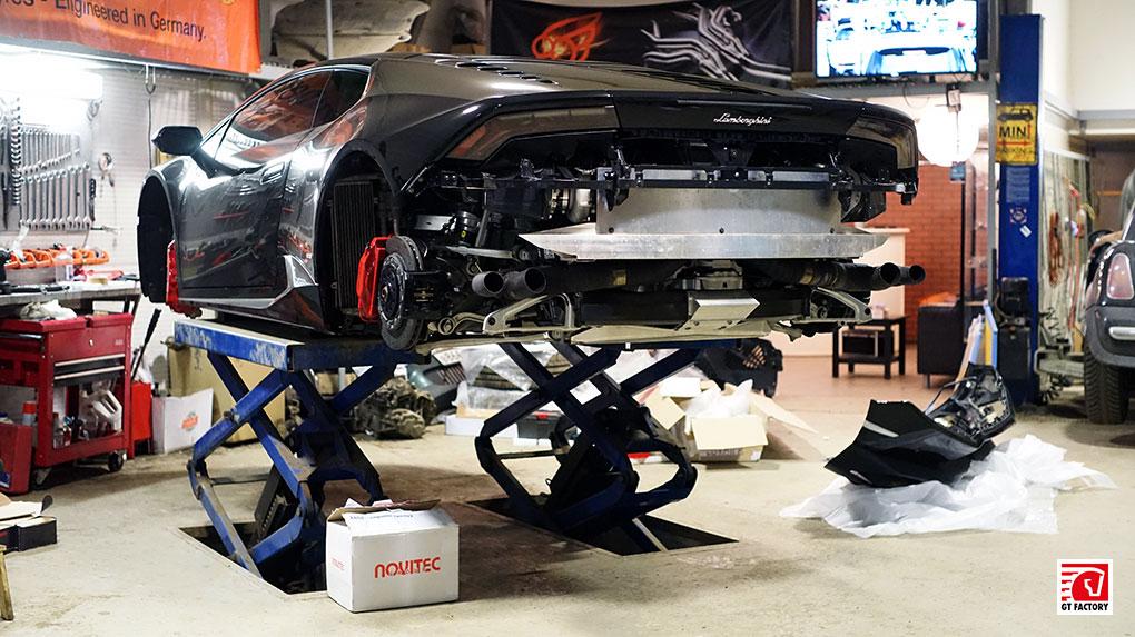 Lamborghini Huracan Novitec Torado установка