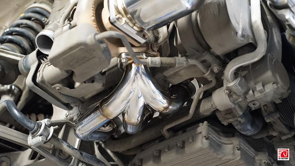 iPE Porsche 997.2 Turbo S полная выхлопная система установка коллектора