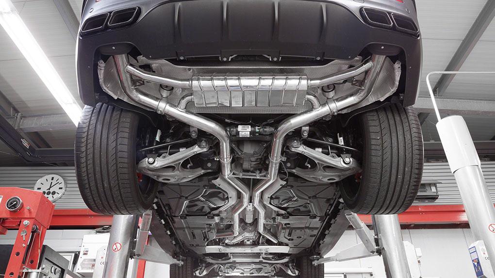 Выхлопная система Capristo Mercedes-Benz GLE63 AMG W166