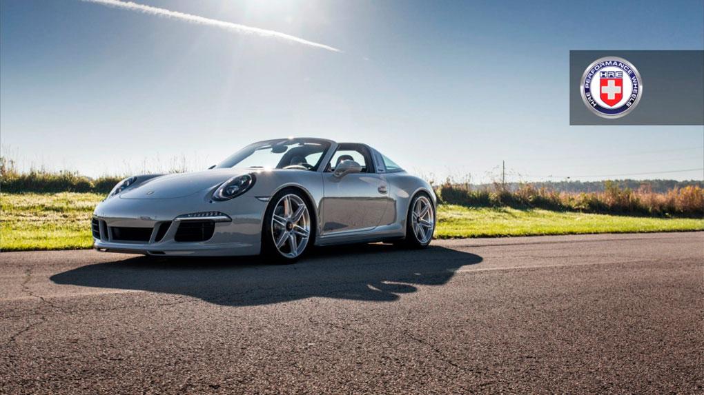 Односоставные моноблочные кованые диски HRE P106 для Porsche 991 Targa