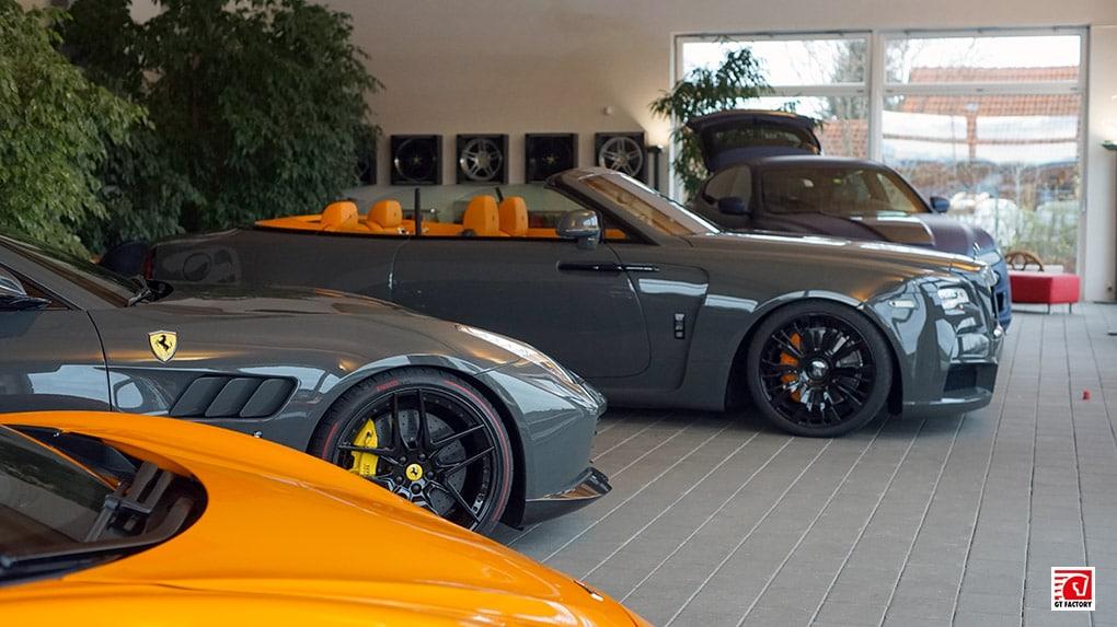 gtfactory посетили novitec в Штеттене главный шоурум Rolls Royce Dawn Overdose Ferrari GTC4 Lusso V12