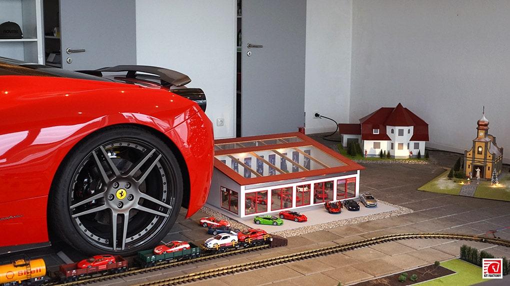 gtfactory посетили novitec в Штеттене старый шоурум Ferrari 458 Italia Novitec Rosso