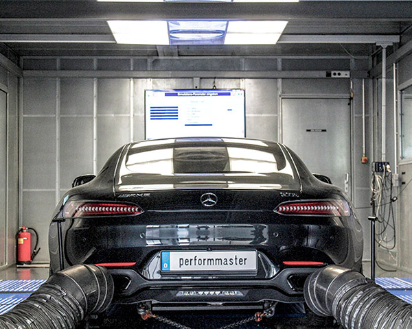 Performmaster чиптюнинг Mercedes-Benz AMG замер мощности на стенде