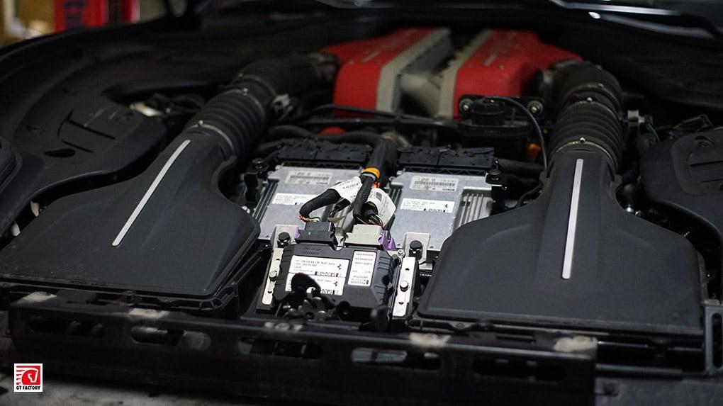 GTFactory Novitec Rosso Ferrari installation process Stage 1 callibrated ECU's