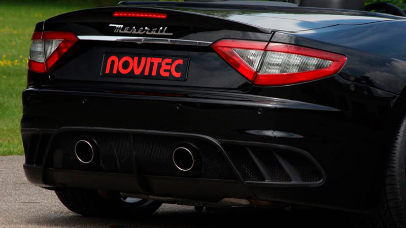 Novitec Maserati Grancabrio MC Stradale Exhaust Tailpipes Chrome