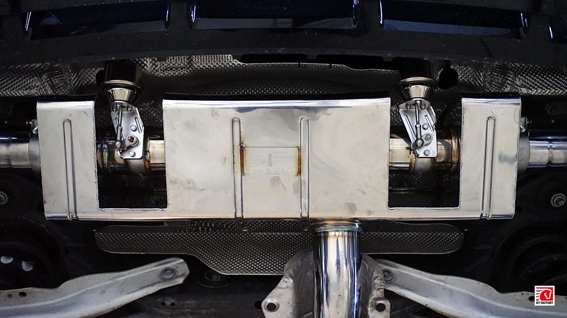 Установка выхлопной системы iPE Mercedes-Benz A45 AMG W176