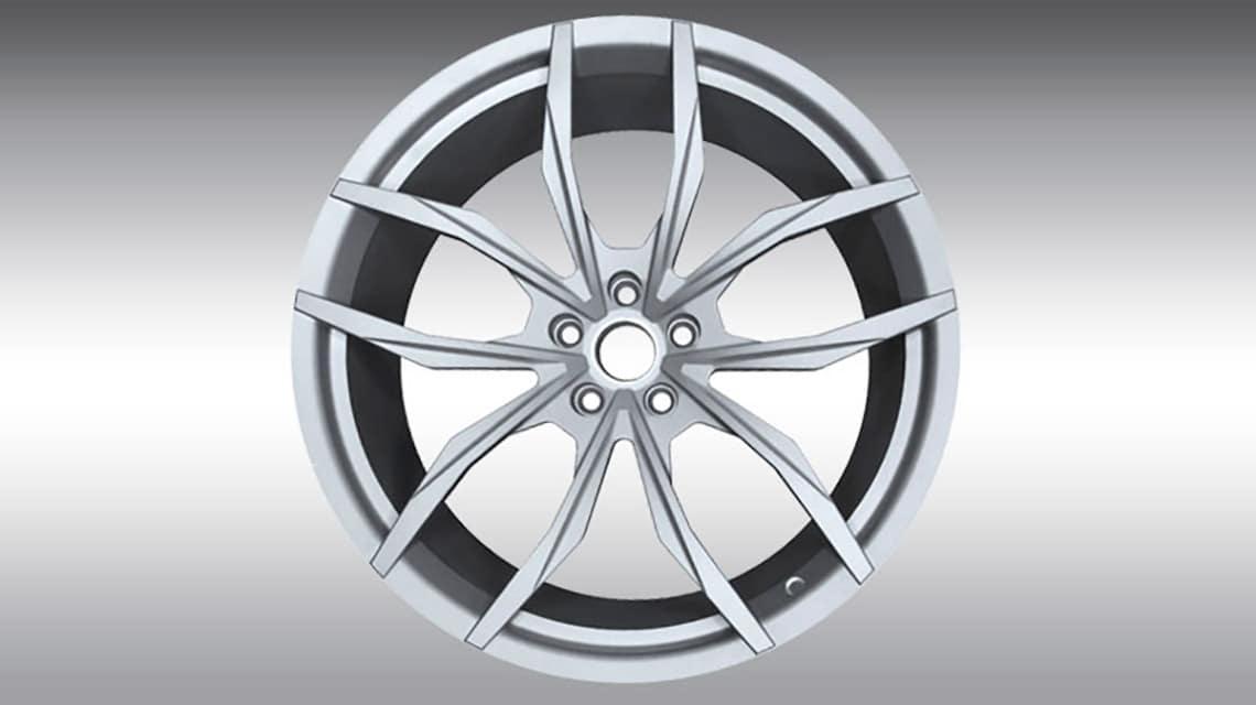 McLaren 720S Spider C460080 MC1 Wheels Silver